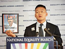 """Dan Choi"" ""National Equality March"" DADT gays military Matlovich"